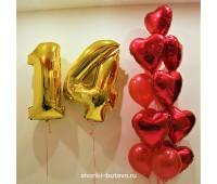Фонтан из шариков с цифрами