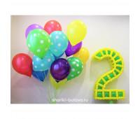 Гелиевые шары с плетёной цифрой