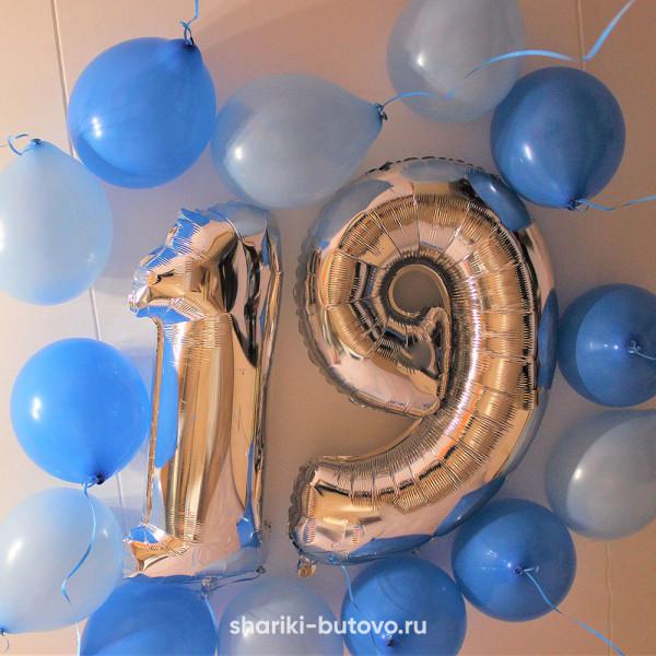 Фольгированный шарик Цифра на День Рождения