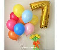 Облако шариков с цифрой