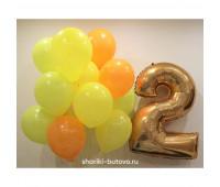Гелиевые шары с цифрой (цвета в ассортименте)