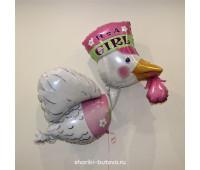 Фольгированный воздушный шар (Аист) 1,2 м