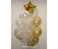 Фонтан из шариков с конфетти с индивидуальной надписью на День Рождения