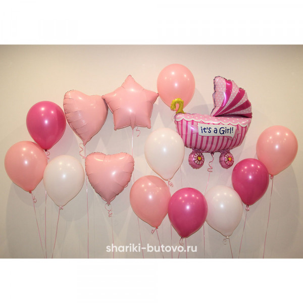 Набор воздушных шаров на выписки из роддома