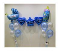 Воздушные шарики на выписку из роддома