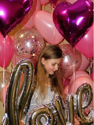 Украшение дня рождения воздушными шарами