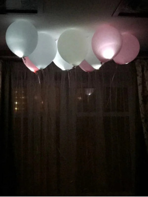 Светящиеся шары под потолок