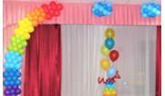 Оформление шарами на выпускной в детском садике