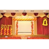 Оформление шарами на выпускной в школе