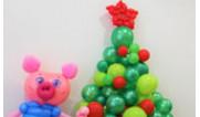 Оформление шарами на новый год